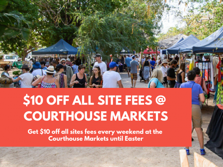 $10 off Courthouse Market site fees!